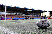 Stadium ready for the First Utility Super League match between Widnes Vikings and Wakefield Wildcats at the Select Security Stadium, Halton, United Kingdom on 21 August 2016. Photo by Craig Galloway.
