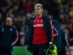 STOKE-ON-TRENT, ENGLAND - Saturday, January 25, 2020: Stoke City's substitute goalkeeper Adam Davies after the Football League Championship match between Stoke City FC and Swansea City FC at the Britannia Stadium. Swansea City lost 2-0. (Pic by David Rawcliffe/Propaganda)