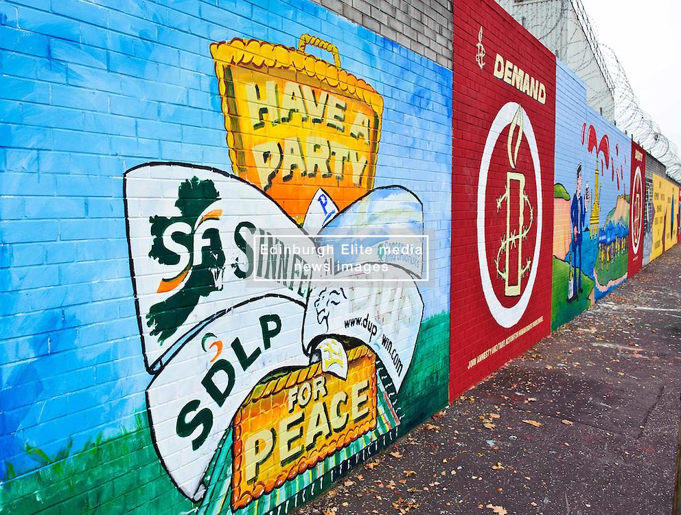 Murals in the Falls Road, Belfast, Northern Ireland<br /> <br /> (c) Andrew Wilson   Edinburgh Elite media