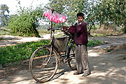 A young candyfloss seller in Ghazipur district in Uttar Pradesh.