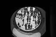 Italy. Venice. pedestrians on    Piazzetta of san Marco view from the clock tower   /  san Marco  Venise - Italie