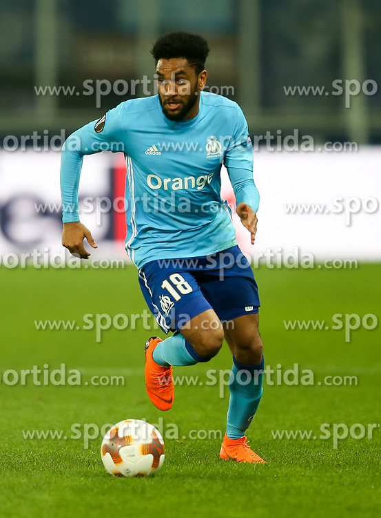 03.05.2018, Red Bull Arena, Salzburg, AUT, UEFA EL, FC Salzburg vs Olympique Marseille, Halbfinale, Rueckspiel, im Bild Jordan Amavi (Olympique Marseille) // during the UEFA Europa League Semifinal, 2nd Leg Match between FC Salzburg and Olympique Marseille at the Red Bull Arena in Salzburg, Austria on 2018/05/03. EXPA Pictures © 2018, PhotoCredit: EXPA/ Roland Hackl
