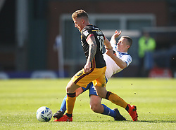 Billy Clarke of Bradford City (L) and Antony Kay of Bury in action - Mandatory by-line: Jack Phillips/JMP - 08/04/2017 - FOOTBALL - Gigg Lane - Bury, England - Bury v Bradford City - Football League 1