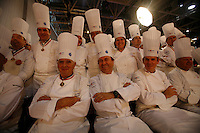 Daniel Boulud, Paul Bocuse, Thomas Keller  at the Bocuse d'Or..Owen Franken for the NY Times..January 27, 2009