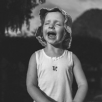 Female child with happy expression