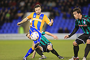 Andy Mangan during the Sky Bet League 1 match between Shrewsbury Town and Rochdale at Greenhous Meadow, Shrewsbury, England on 1 March 2016. Photo by Daniel Youngs.