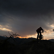 Rex Flake rides at sunrise near Leavenworth, Washington.