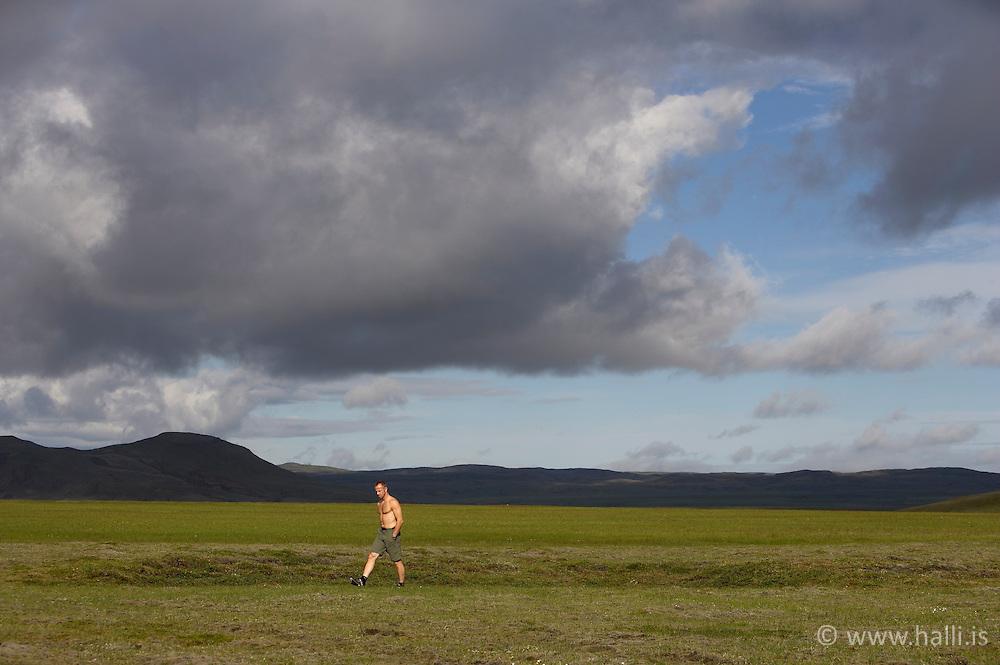 Mountain scenery near the Skafta river in the highlands of Iceland - Fjallasýn við Skaftá á hálendi Íslands
