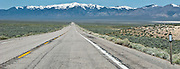 Clan Alpine Mountain Range and Mt Augusta in the distance along US 50 in the Edwards Creek Valley which was on the route of the Pony Express. Nevada  panorama
