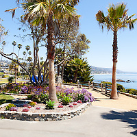 Photo of Heisler Park in Laguna Beach California. Laguna Beach is a coastal beach city in Orange County Southern California.