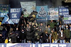 December 17, 2017 - Benevento, Campania, Italy - Supporters of Spal  celebrate the victory after Serie A match between Benevento Calcio and Spal at Stadio Ciro Vigorito on December 17, 2017 in Benevento, Italy  (Credit Image: © Paolo Manzo/NurPhoto via ZUMA Press)