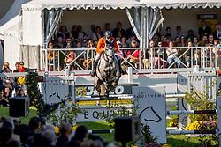 Heffernan Andrew, NED, Gideon<br /> With breeders, Peter van Damme, Joris De Brabander<br /> Mondial du Lion - Le Lion d'Angers 2018<br /> © Hippo Foto - Dirk Caremans<br /> 21/10/2018