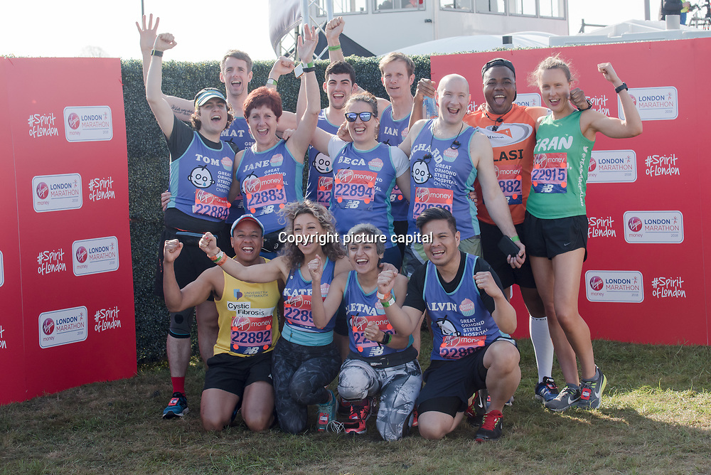 Baker Dozen at London Marathon 2018 on 22 April 2018, Blackhealth, London, UK.