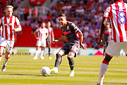 Leeds United midfielder Pablo Hernandez (19)  during the EFL Sky Bet Championship match between Stoke City and Leeds United at the Bet365 Stadium, Stoke-on-Trent, England on 24 August 2019.