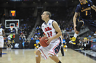 Ole Miss' Marshall Henderson (22) vs. La Salle in the Round of 32 of the NCAA Tournament at the Sprint Center in Kansas City, Mo. on Sunday, March 24, 2013. La Salle won 76-74.
