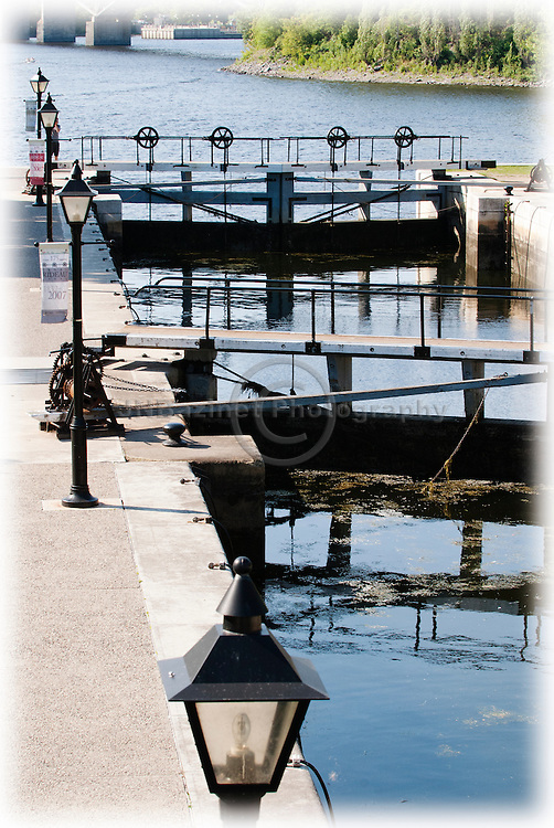 The main entrance to the Rideau Canal Locks in Ottawa, Ontario Canada.