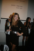 FLORENCE UNIAKE, Dinner in aid of 'Action Trust For the Blind organised by Matthew Carr. 20th Century Theatre. Westbourne Gro. London. 26 September 2007. -DO NOT ARCHIVE-© Copyright Photograph by Dafydd Jones. 248 Clapham Rd. London SW9 0PZ. Tel 0207 820 0771. www.dafjones.com.