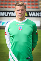Thibaut Rausin pictured during the 2015-2016 season photo shoot of Belgian first league soccer team Royal Mouscron Peruwelz, Thursday 16 July 2015 in Mouscron.