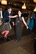 MARQUESS OF TALFORDINE, KIRSTY MARTIN, The Royal Caledonian Ball 2015. Grosvenor House. Park Lane, London. 1 May 2015.