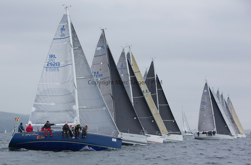 Silvers Marine Scottish Series 2017<br /> Tarbert Loch Fyne - Sailing<br /> <br /> RC35 Class start, IRL29213, Something Else, Hall/McDonnell, National YC, J109<br /> <br /> Credit: Marc Turner / CCC