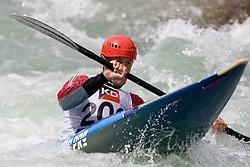 Etienne Daille of France competes in the Men's Kayak K1 at Kayak & Canoe ICF slalom race Tacen 2010 on May 16, 2010 in Tacen, Ljubljana, Slovenia. (Photo by Vid Ponikvar / Sportida)
