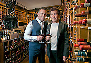 Shareef Malnik and Al Malnik, left to right, father-son owners of The Forge in the restaurants famous wine cellar on Miami Beach on Friday, May 22, 2015