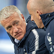 PARIS, FRANCE - March 25:  Didier Deschamps, head coach of France on the sideline during the France V Iceland, 2020 European Championship Qualifying, Group Stage at  Stade de France on March 25th 2019 in Paris, France (Photo by Tim Clayton/Corbis via Getty Images)