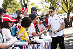 March 23, 2018 - Melbourne, Victoria, Australia - VANDOORNE Stoffel (bel), McLaren Renault MCL33, portrait autographs with fans during 2018 Formula 1 championship at Melbourne, Australian Grand Prix, from March 22 To 25 - Photo  Motorsports: FIA Formula One World Championship 2018, Melbourne, Victoria : Motorsports: Formula 1 2018 Rolex  Australian Grand Prix, (Credit Image: © Hoch Zwei via ZUMA Wire)