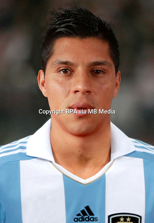 Football Fifa Brazil 2014 World Cup Matchs-Qualifier / South America - Group Matches /<br /> Peru vs Argentina 1-1 ( National Stadium-Lima ,Peru )<br /> Enzo PEREZ of Argentina , During the match between Peru and Argentina