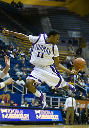 December 28, 2009; Berkeley, CA, USA;  Furman Paladins guard Jordan Miller (11) during the second half against the UC Santa Barbara Gauchos at the Haas Pavilion.  UC Santa Barbara defeated Furman 72-60.