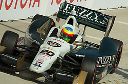 Mike Conway exiting the pit LBGP 2014