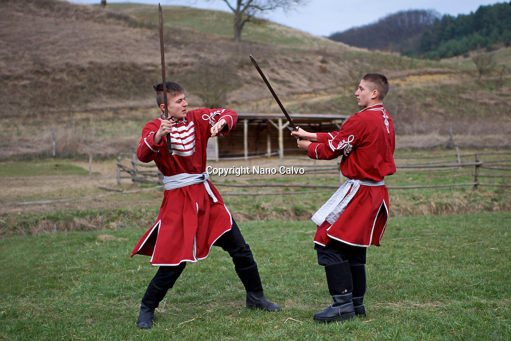 Training with G&aacute;bor Kopecsni, founder and president of the Baranta Association in Upper Hungary.<br /> <br /> Baranta is the martial art developed in Hungary between the ninth century and today, including wrestling and use of various weapons.