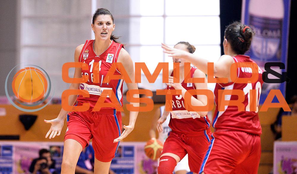 DESCRIZIONE : Udine U20 Campionato Europeo Femminile Finale 3-4 posto Italia Serbia European Championship Women Final 3-4 Place Italy Serbia<br /> GIOCATORE : Dragana Stankovic<br /> CATEGORIA : esultanza<br /> SQUADRA : Serbia<br /> EVENTO : Udine U20 Campionato Europeo Femminile Finale 3-4 posto Italia Serbia European Championship Women Final 3-4 Place Italy Serbia<br /> GARA : Italia Serbia Italy Serbia<br /> DATA : 13/07/2014<br /> SPORT : Pallacanestro <br /> AUTORE : Agenzia Ciamillo-Castoria/R. Morgano<br /> Galleria : Europeo Under 20 Femminile <br /> Fotonotizia : Udine U20 Campionato Europeo Femminile Finale 3-4 posto Italia Serbia European Championship Women Final 3-4 Place Italy Serbia<br /> Predefinita :