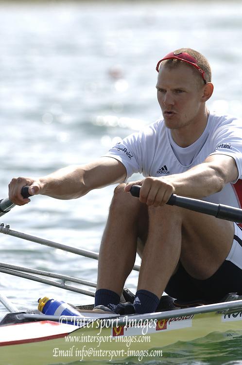 2005 FISA World Cup, Dorney Lake, Eton, ENGLAND, 27.05.05. NOR M1X Olaf Tufte.Photo  Peter Spurrier. .email images@intersport-images....[Mandatory Credit Peter Spurrier/ Intersport Images] , Rowing Courses, Dorney Lake, Eton. ENGLAND