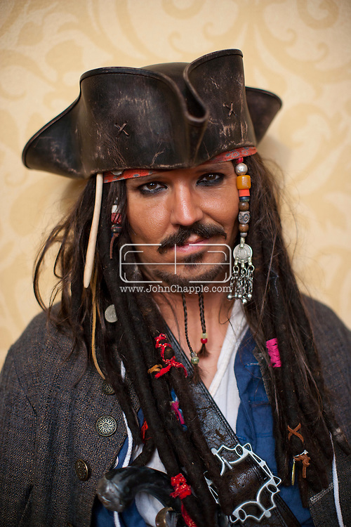 24th February 2011. Las Vegas, Nevada.  Celebrity Impersonators from around the globe were in Las Vegas for the 20th Annual Reel Awards Show. Pictured is Dale Clark as Johnny Depp and Captain Jack Sparrow. Photo © John Chapple / www.johnchapple.com..