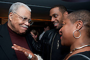 JAMES EARL JONES; RICHARD BLACKWOOD; PAULETTE RANDALL; DIRECTOR, , The Centrepoint Paramount Club afterparty following the press night of 'Cat On A Hot Tin Roof', at the Novello Theatre, Aldwych, London.  1 December 2009