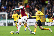 Burnley forward Jay Rodriguez in possession of the ball during the Premier League match between Burnley and Arsenal at Turf Moor, Burnley, England on 2 February 2020.