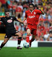 Yossi Benayoun <br /> Liverpool 2009/10<br /> Antonio Lopez Atletico Madrid<br /> Liverpool V Atletico Madrid (1-2) 08/08/09<br /> Pre Season Friendly 2009<br /> Photo Robin Parker Fotosports International
