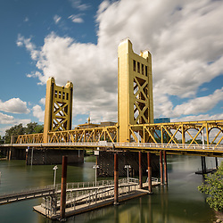 Vertical lift bridge in Sacramento, California