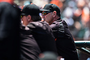 Bruce Bochy during MLB game between the San Francisco Giants and the San Diego Padres, at AT&amp;T Park in San Francisco, CA.<br /> The Giants won 13-8 in 9 innings.<br /> Credit : Glenn Gervot