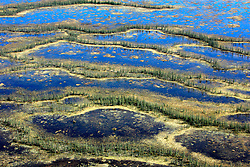 CANADA ALBERTA FORT MCMURRAY 10MAY07 - Aerial view of McClelland lake fen north of Fort McMurray, Alberta, Canada. The Alberta Tar Sands are the largest deposits of their kind in the world and their production is the single largest contributor to Canada's greenhouse gas emissions...Alberta's tar sands are currently estimated to contain a crude bitumen resource of 315 billion barrels, with remaining established reserves of almost 174 billion barrels, thus making Canada's oil resources ranked second largest in the world in terms of size...The industry has brought wealth and an economic boom to the region but also created an environmental disaster downstream from the Athabasca river, polluting the lakes where water and fish are contaminated. The native Indian tribes of the Mikisew, Cree, Dene and other smaller First Nations are seeing their natural habitat destroyed and are largely powerless to stop or slow down the rapid expansion of the oil sands development, Canada's number one economic driver...jre/Photo by Jiri Rezac / WWF-UK..© Jiri Rezac 2007..Contact: +44 (0) 7050 110 417.Mobile: +44 (0) 7801 337 683.Office: +44 (0) 20 8968 9635..Email: jiri@jirirezac.com.Web: www.jirirezac.com..© All images Jiri Rezac 2007 - All rights reserved.