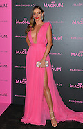 Miranda Kerr Wears Hot-Pink To Magnum Party