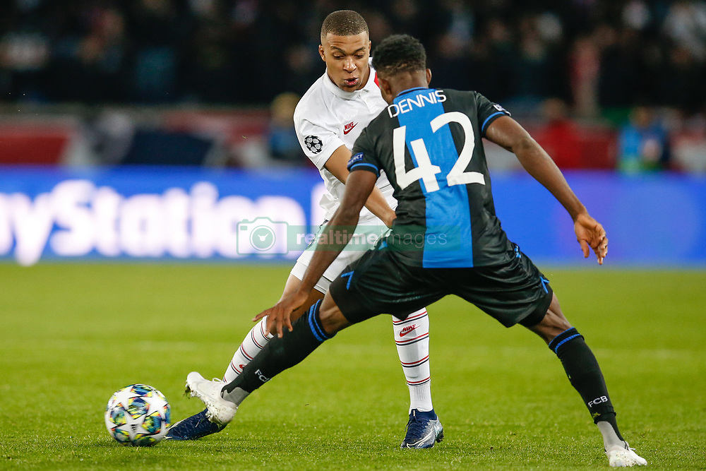 November 6, 2019, Paris, France: PSG's Kylian Mbappe and Club's Emmanuel Bonaventure Dennis fight for the ball during the match between French club Paris Saint-Germain Football Club and Belgian soccer team Club Brugge KV, Wednesday 06 November 2019 in Paris, France, on day four in Group A, in the first round of the UEFA Champions League. (Credit Image: © Bruno Fahy/Belga via ZUMA Press)
