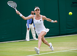 WIMBLEDON - GB -  4th July 2016: The Wimbledon Tennis Championship continues at the All England Lawn Tennis Club in S.E. London.<br /> <br /> Agnieszka RADWANSKA vs Dominika CIBULKOVA (SVK) <br /> Photo by Ian Jones