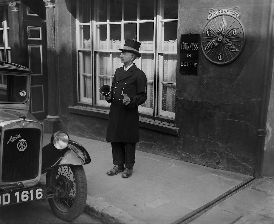 Towncrier, Kingsbridge, Devon, England, 1932