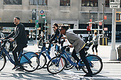 Kendall Jenner riding bike in New York