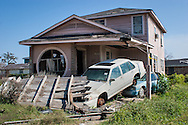 Hurricane Katrina damage in New Orleans a year and a half after the storm.