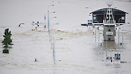 Flood in Prague, Czech republic.