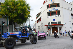 LARISA, May 19, 2018  Vehicles cross the center of Larisa during the 12th motor festival in Greece, May 18, 2018. (Credit Image: © Apostolos Domalis/Xinhua via ZUMA Wire)