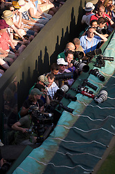 LONDON, ENGLAND - Monday, June 28, 2010: Photographers during the Gentlemen's Singles 4th Round match on day seven of the Wimbledon Lawn Tennis Championships at the All England Lawn Tennis and Croquet Club. (Pic by David Rawcliffe/Propaganda)